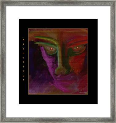 Mesmerized Framed Print by Mimulux patricia no