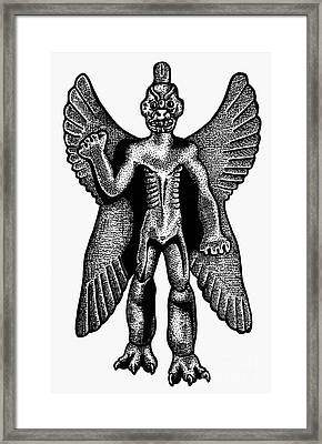 Mesopotamian Demon Framed Print by Granger