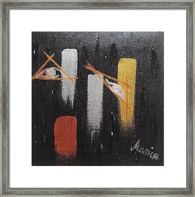Message From The Future I. Framed Print by Marianna Mills