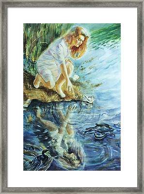 Message In The Water Framed Print by Catherine Foster