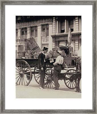 Messenger Boys On A Hurry Call In Union Framed Print by Everett