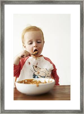 Messy Boy Framed Print by Ian Boddy