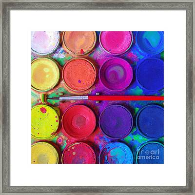 Messy Paints Framed Print by Carlos Caetano