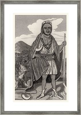 Metacomet Of Pokanoket, Wampanoag Chief Framed Print by Photo Researchers