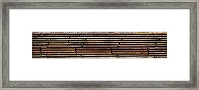 Metal Stripe  Framed Print by Jean Noren