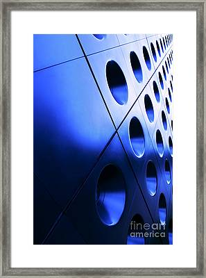 Metallic Background Framed Print by Jane Rix