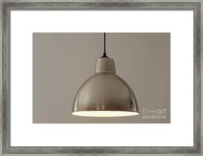 Metallic Lamp Shade Framed Print by Sami Sarkis