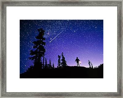 Meteor Framed Print by David Nunuk
