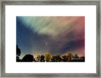 Meteor Perseid Meteor Shower Framed Print by Thomas R Fletcher