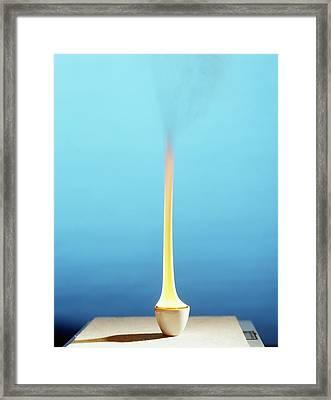 Methylbenzene Burning Framed Print by Andrew Lambert Photography