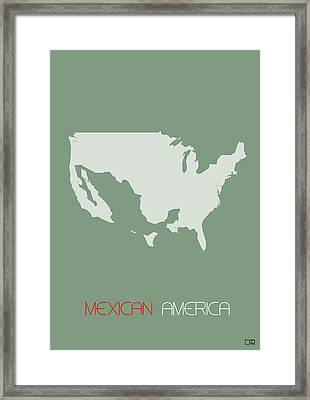 Mexican America Poster Framed Print by Naxart Studio