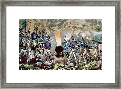 Mexican-american War, Siege Framed Print by Photo Researchers