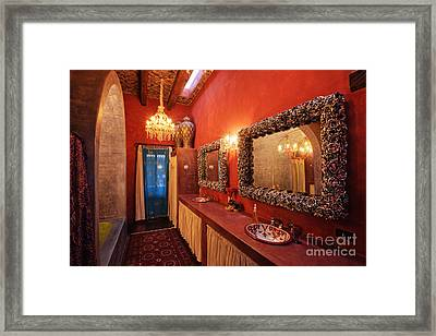 Mexican Bathroom Framed Print by Jeremy Woodhouse