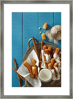 Mexican Churros Framed Print by Lew Robertson