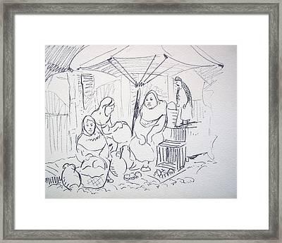 Mexican Clay Pottery Framed Print by Bill Joseph  Markowski