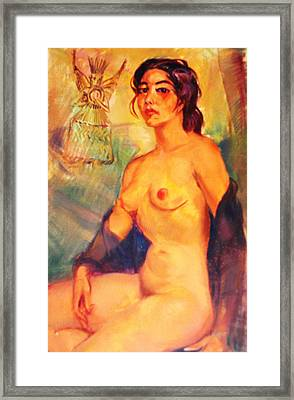 Mexican Indian Nude Beauty Framed Print by Bill Joseph  Markowski