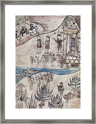 Mexico Indians C1500 Framed Print by Granger