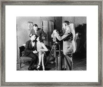 Mgm Director Edmund Goulding Back Left Framed Print by Everett