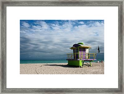 Miami 12th Street Beach  Framed Print by Barbara McMahon