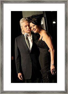 Michael Douglas, Catherine Zeta Jones Framed Print by Everett