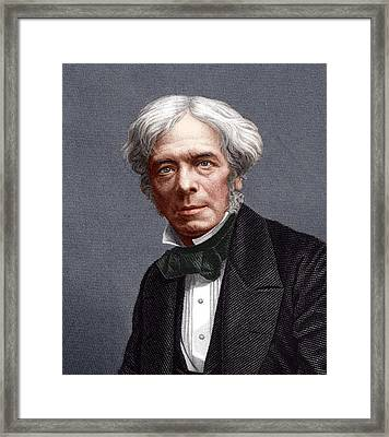Michael Faraday, English Chemist Framed Print by Sheila Terry
