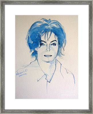 Michael Jackson - Gimme Your Wings Framed Print by Hitomi Osanai