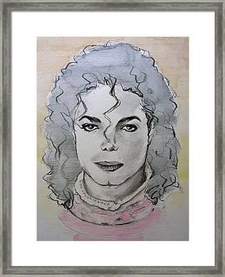 Michael Jackson - Planet Michael Framed Print by Hitomi Osanai