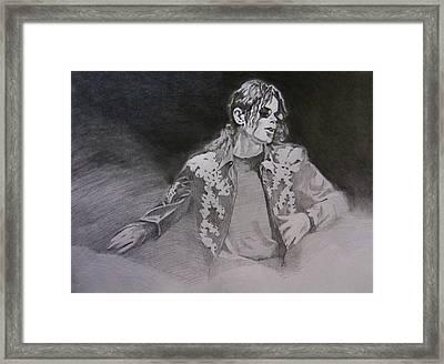 Michael Jackson - You Make Me Feel Framed Print by Hitomi Osanai