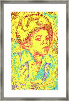 Michael Jackson Abstraction Framed Print by Pierre Louis