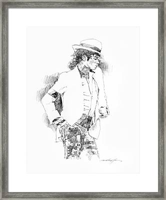 Michael Jackson Attitude Framed Print by David Lloyd Glover