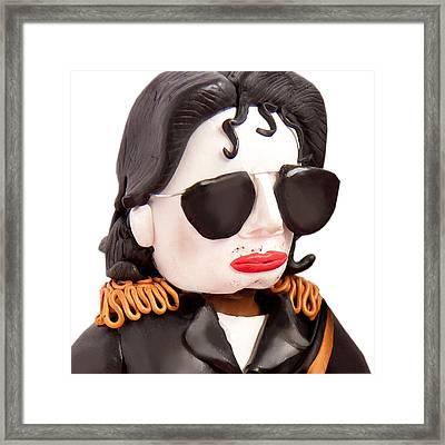 Michael Jackson Framed Print by Louisa Houchen