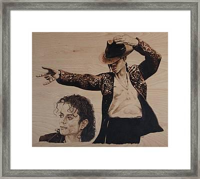 Michael Jackson Framed Print by Michael Garbe