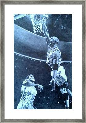Michael Jordan - The Art Of His Airness Framed Print by Damardre Williams