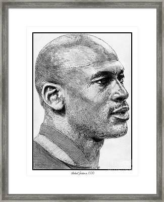 Michael Jordan In 1990 Framed Print by J McCombie