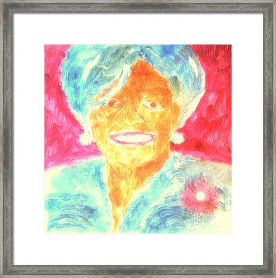 Michelle Obama 2 Framed Print by Richard W Linford