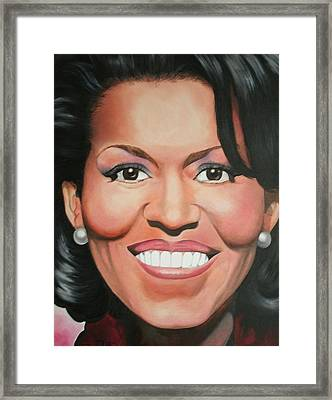 Michelle Obama Framed Print by Timothe Winstead