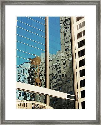 Michigan Ave. Reflection Framed Print by Todd Sherlock