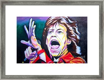 Mick Jagger Framed Print by Ken Huber