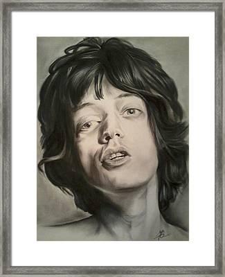 Mick Jagger Framed Print by Morgan Greganti
