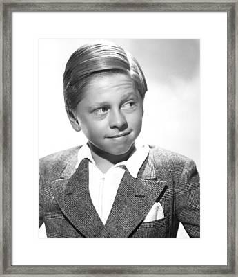 Mickey Rooney Framed Print by Everett