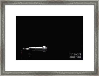 Microphone Framed Print by Roberto Westbrook