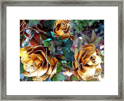 Midas Touch Duck Tape Roses Framed Print by Laura  Grisham