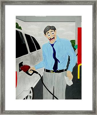 Middle Class Poverty Framed Print by Sal Marino