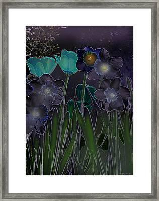 Midnight Daffodils Framed Print by Heinz G Mielke