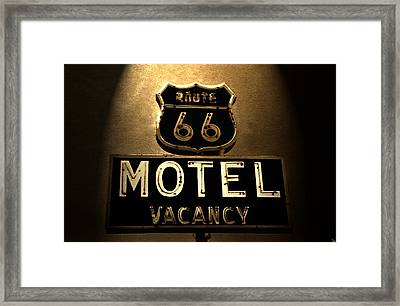 Midnight On 66 Framed Print by David Lee Thompson