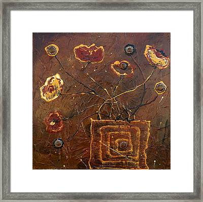 Midnight Poppies Framed Print by Victoria  Johns