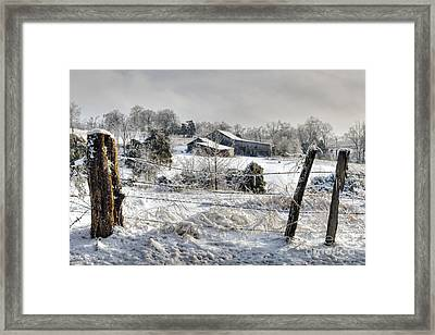 Midwestern Ice Storm - D004825 Framed Print by Daniel Dempster