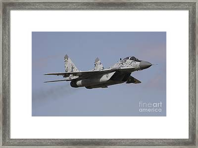 Mig-29 Of The Slovak Air Force Framed Print by Timm Ziegenthaler