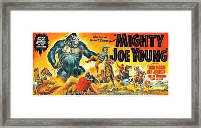 Mighty Joe Young, Banner Poster Art Framed Print by Everett