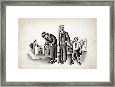 Miguel Covarrubias 1904-1957 Cartoon Framed Print by Everett